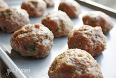 Asian Turkey Meatballs With Lime Sesame Dipping Sauce #lowcarb #meatballs #turkey
