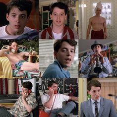 Ferris Bueller's Day Off - Ferris changes nine times before ever leaving the house. 80s Movie Quotes, 80s Movies, Iconic Movies, Classic Movies, Great Movies, Movie Tv, Awesome Movies, Ferris Bueller, Movies Showing