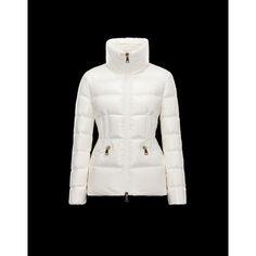 Moncler Doudoune Femme Haut-cou Moncler Manteau blanc