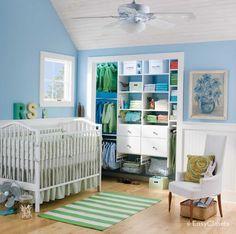 Baby's White Reach-in Closet