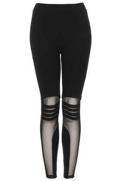 Biker Mesh Detail Leggings - Topshop price: £25.00