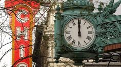 Turning Back the Marshall Field's Clock - This iconic clock served as the flagship for the home base of Marshall Field's in Chicago, at the corner of State & Washington...