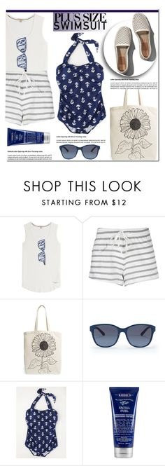 """""""Pretty Plus-Size Swimsuit"""" by mada-malureanu ❤ liked on Polyvore featuring Burberry, Solid & Striped, Tri-coastal Design, Ralph Lauren, Esther Williams, Kiehl's, Abercrombie & Fitch, nauticalstyle and plusswimsuit"""