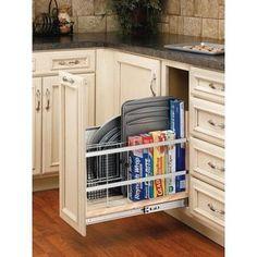 Rev-A-Shelf 447-BC-8C 8-inch Tray Divider/ Foil and Wrap Base Organizer #kitchenorganization