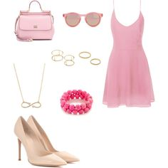 Untitled #856 by joleen2310 on Polyvore featuring polyvore fashion style Glamorous Gianvito Rossi Dolce&Gabbana Jeweliq Aéropostale Le Specs