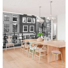 Vlies fotobehang Amsterdam Zwart Wit Living Room Inspiration, Amsterdam, Game Room, New Homes, Dining Room, House Design, Black And White, Interior, Kitchen