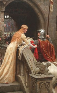 What is the Difference Between Medieval and Renaissance Literature? Medieval Literature focused on religion, courtly love, unlike Renaissance Literature. Courtly Love, John William Waterhouse, Medieval Wedding, Pre Raphaelite, Chivalry, Art Plastique, Oeuvre D'art, Middle Ages, Art History