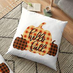 Floor Pillows, Throw Pillows, Ipad Art, Hello Autumn, Buffalo Check, Fall Pumpkins, Greeting Cards Handmade, Elephant, Corner