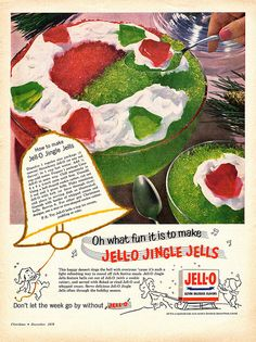 Dish up Jell-o Jingle Bells for a festive, squishy, delicious Christmas dessert treat.