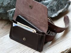 Note: - I can made to order if your mobile is not iphone 4/4s so you just tell me in the conversation what kind of your mobile and size. - If you want another color such as teal, purple, beige, black etc. please conversation to me or take the private note to me when you purchase.  This soil brown leather wallet was designed to comfortably carry both iphone and many thing in wallet. There are a slot fix for iphone size and many slots for money, credit card, coin. I made by hand stitching with…