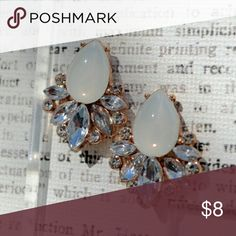 Rose Gold & Fog Gem Stud Earring If interested please comment below for more information AshBmarie Jewelry Earrings