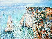 """New artwork for sale! - """" Claude Monet - The Rock Needle And The Porte D Aval  by Claude Monet """" - http://ift.tt/2miMF5r"""
