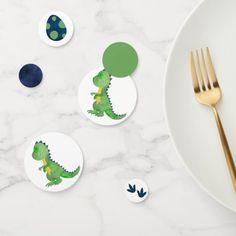 Dinosaur Table Confetti - Trex Confetti Fall Birthday Parties, Dinosaur Birthday Party, 1st Boy Birthday, Birthday Diy, Birthday Gifts, Diy 1st Birthday Invitations, Pink Invitations, Dinosaur Eggs, Green Candy