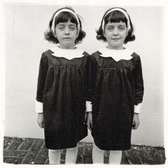 A copy of Diane Arbus' Twins hangs at the Art Institute of Chicago.    (come play with us, Danny... forever and ever and ever!!)