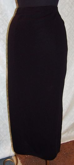 Exclusively Misook Long Classic Black Skirt XL Womens Straight Full Pencil #ExclusivelyMisook #StraightPencil