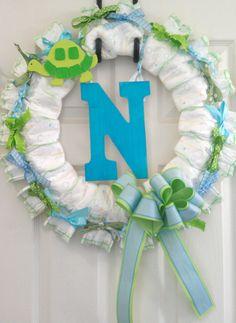my Diaper Wreath