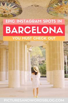 The Most Instagrammable Places in Barcelona | Best Barcelona Photo Spots | Instagram Worthy Things to Do in Barcelona | Barcelona Travel Guide Barcelona Travel Guide, Visit Barcelona, Barcelona Catalonia, Europe Travel Tips, Spain Travel, European Travel, Stuff To Do, Things To Do, Instagram Worthy