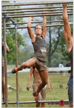 Spartan Race - checking out the photos to get motivated to train!  Monkey Bars scare me!!!!