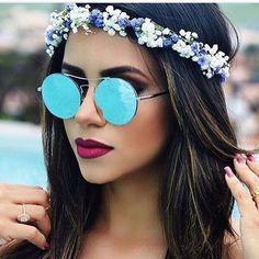 óculos de sol feminino 2017 | ... sobre Óculos De Sol no Pinterest | Tons e Óculos de sol redondos
