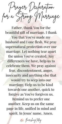 4 Simple Ways to Build a Strong Marriage Do you want to build a strong marriage? Many times we want to invest in our marriage, but we aren't sure what to do. Here you'll be equipped with Bible verses, prayers and tips to strengthen your marriage. Prayer For My Marriage, Marriage Bible Verses, Godly Marriage, Godly Relationship, Prayer Scriptures, Bible Prayers, Marriage Life, Prayer Quotes, Love And Marriage