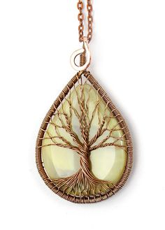 Tree-Of-Life Pendant Necklace Tree-Of-Life Jewelry by KittenUmka