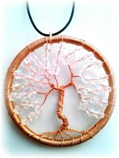 Copper Wire Wrapped Tree of Life pendant by RecycledBeautifully, $18.00