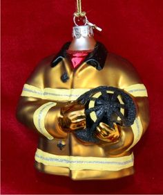 firefighter christmas | Firefighter Jacket Ornament | Russell Rhodes Personalized Christmas ...