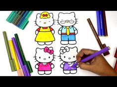 Coloring Hello Kitty Mimmy Family Pages For Kids