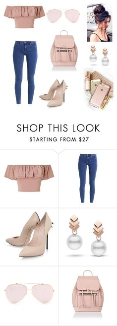 """Untitled #75"" by brianaishungry ❤ liked on Polyvore featuring Miss Selfridge, even&odd, Casadei, Escalier and Accessorize"