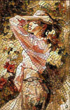 Mosaic Crafts, Mosaic Projects, Mosaic Designs, Mosaic Patterns, Mosaic Glass, Glass Art, Art Pierre, Mosaic Portrait, Mosaic Artwork