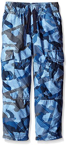 Gymboree Little Boys JerseyLined Blue Camo Ripstop Cargo Pant Blue Camo 6 >>> Want additional info? Click on the image.