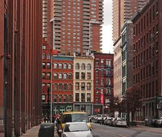 tribeca NYC new york city buildings by moonman82, via Flickr // Another old nabe.