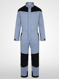 365e7c20c0e1 Flame Retardant Coveralls in Ice Blue and Navy. These FR Overalls provide  maximum comfort and safety from fire hazards and are also available in  other ...