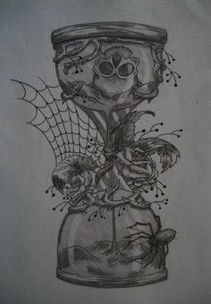 Hourglass tattoo design. You never know when you're time is gonna run out...