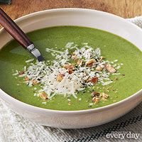 Spinach & Broccoli Soup {recipes entree soup leeks garlic broccoli ...