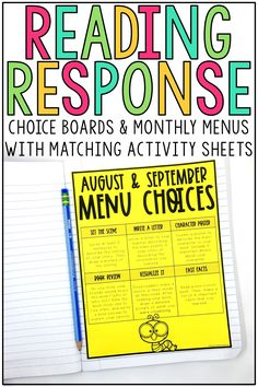 These reading response activities are perfect for 2nd, 3rd, 4th, and 5th grade students. This resource includes monthly menus and generic choice boards. Each choice board and menu includes response ideas, prompts, templates, questions and graphic organizers for fiction and nonfiction journals. You can use these independent printable activities and worksheets daily, weekly, or monthly!