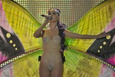 Katy Perry goes as nude butterfy at 2012 Much Music Awards