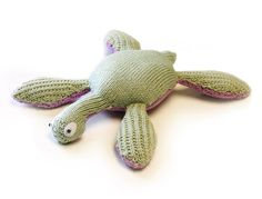 Our very own Kim's brilliant knitted plesiosaur from the fab book ' Knitted Dinosaurs'!