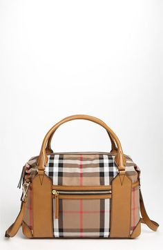 Burberry 'House Check' Diaper Bag | Nordstrom You know I love it.