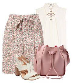 """""""Floral Shorts & Sleeveless Top"""" by brendariley-1 ❤ liked on Polyvore featuring Jil Sander Navy, Philosophy di Lorenzo Serafini and Sigerson Morrison"""