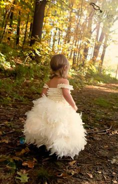 The kids should be shoeless- Flower Girl Dresses! :  wedding dress flower girl Il 570xN.280000524