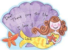 M. Middleton Mermaid Thank You - 8 ct - Free Shipping #YoYoBirthday
