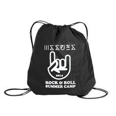 Rock N Roll Summer Camp Black Cinch Bag