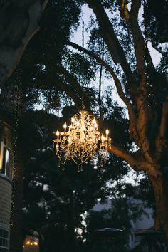 Outdoor chandelier night lights home decor outdoors elegant style exterior Outdoor Chandelier, Outdoor Lighting, Outdoor Decor, Chandeliers, Event Lighting, Yard Lighting, Wedding Lighting, Outdoor Dining, Lustre Exterior