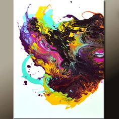 Abstract Art Painting 18x24 Contemporary Canvas Art by wostudios, $69.00