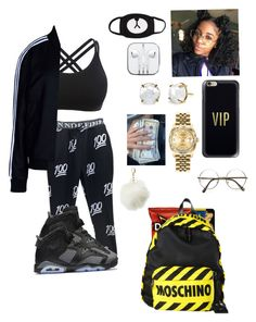 """I'm a dancer "" by trackmigo95me on Polyvore featuring adidas Originals, NIKE, Casetify, Moschino, Irene Neuwirth, Rolex, ZeroUV and Charlotte Russe"
