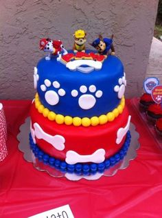 Throw an exceptional get-together for your children's birthday party with these 7 fascinating paw patrol party ideas. The thoughts must be convenient to those who become the true fans of Paw Patrol show. Bolo Do Paw Patrol, Torta Paw Patrol, Paw Patrol Cupcakes, Rubble Paw Patrol Cake, Paw Patrol Chase Cake, Paw Patrol Birthday Cake, Paw Patrol Party, 3rd Birthday Parties, Birthday Fun