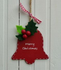 Wooden Christmas Bell Tree Decoration £4.00
