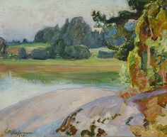 Autumn Landscape By Pekka Halonen - Famous Art - Handmade Oil Painting On Canvas — Canvas Paintings Helene Schjerfbeck, Japanese Woodcut, Drawing School, Famous Artwork, Art Society, Oil Painting On Canvas, Canvas Paintings, Paul Gauguin, Love Art