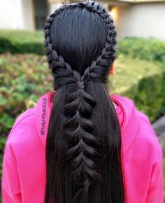 💖Arch Braid into Pull-through Braid💖 #hairdo #hairideas #frenchbraid #brunette #pullthroughbraid #talent #peinado #hair #bestoftheday #instamood #instalike #girl #glam #followme #hairstyle #peinado #school #pink #hairstylist #forgirls #fashionbraid #fabulous #PrettyHStyle3029 #like4like #longhairdontcare #longhair #braid #instahair #instagood #beautiful